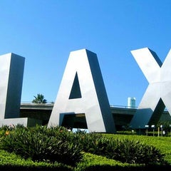 Photo taken at LAX Sign by David B. on 11/9/2012