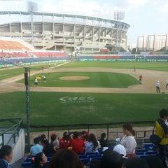 Photo taken at 무등야구장 (Mudeung Baseball Stadium) by 정욱 양. on 8/31/2013