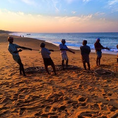 Photo taken at Kollam Beach by MauOscar on 3/13/2014