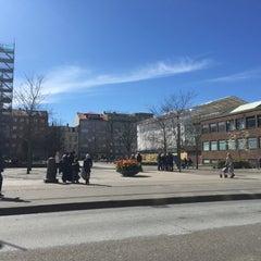 Photo taken at Gustav Adolfs torg by Dimitrij A. on 4/27/2015