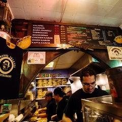 Photo taken at Mamoun's Falafel by Compass on 7/23/2013