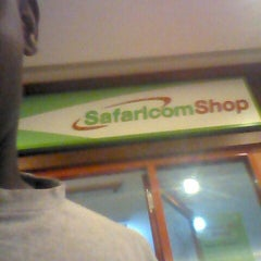 Photo taken at Safaricom, Galleria Shopping Mall by Mike M. on 10/15/2013