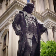 Photo taken at Benjamin Franklin Statue by Josh B. on 6/22/2014