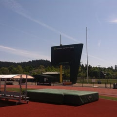 Photo taken at Hayward Field by AJ O. on 5/9/2015