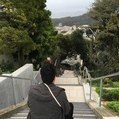 Photo taken at Hidden Garden Mosaic Steps by Jesse M. on 1/29/2016