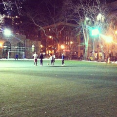 Photo taken at Lions Gate Soccer Field by Gabriel W. on 1/9/2014