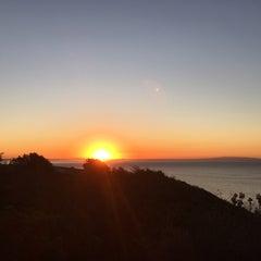 Photo taken at Malibu Public Beach by Krish K. on 11/8/2015