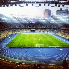 Photo taken at НСК «Олімпійський» / Olimpiyskiy Stadium by Kseniya T. on 7/29/2013