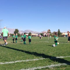 Photo taken at Desert Breeze Soccer Complex by James W. on 5/3/2014