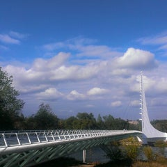 Photo taken at Sundial Bridge at Turtle Bay Exploration Park by Michael W. on 10/29/2013