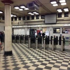 Photo taken at Embankment London Underground Station by Ioanna H. on 2/1/2013
