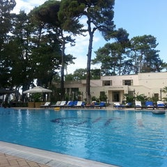 Photo taken at open air swimming pool @ Georgia Palace Hotel by Giorgi K. on 9/4/2013