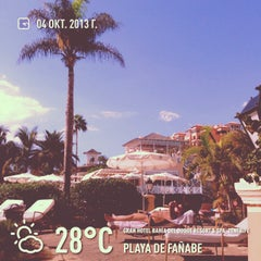 Photo taken at Gran Hotel Bahía del Duque Resort by Павел К. on 10/4/2013