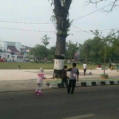 Photo taken at Lapangan Dwi Warna by M. F. on 8/9/2015