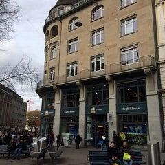 Photo taken at Orell Füssli - The Bookshop by Peter G. on 3/1/2014