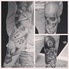 Photo taken at Kustom Kulture Tattoo Studio by Wendy B. on 9/17/2014