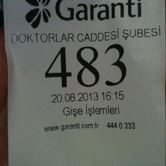 Photo taken at Garanti Bankası by Serkan K. on 8/20/2013