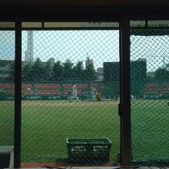 Photo taken at 청주종합운동장 야구장 (Cheongju Baseball Stadium) by San K. on 7/10/2014