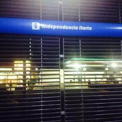 Photo taken at Macrobús Estación Independencia Norte by Yaya S. on 2/18/2014