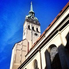 Photo taken at Alter Peter (Katholische Stadtpfarrei St. Peter) by Dan V. on 10/4/2013