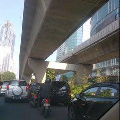 Photo taken at Jalan Casablanca by Hikmat on 10/17/2013