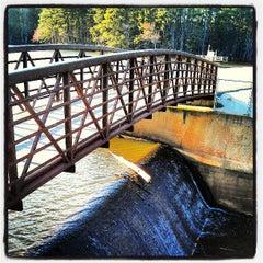 Photo taken at Lake Johnson by Bryan D. on 3/31/2013