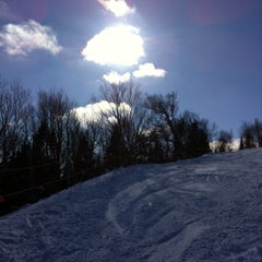 Photo taken at Mont-Sainte-Anne by Isabelle V. on 2/16/2013