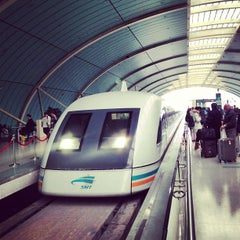 Photo taken at 磁悬浮龙阳路站 Maglev Train Longyang Road Station by Takeshi N. on 2/1/2013