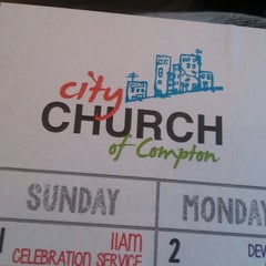 Photo taken at City Church of Compton by Mike H. on 6/1/2014