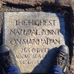 Photo taken at Highest Natural Point In Manhattan by Branimir J. on 11/29/2013
