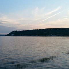 Photo taken at Plage Jacques Cartier by Bruno R. on 7/13/2014