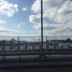 Photo taken at Modersohnbrücke by David L. on 8/28/2015