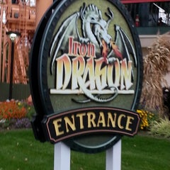 Photo taken at Iron Dragon by Jamey E. on 10/17/2014