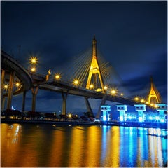Photo taken at สะพานภูมิพล ๑ (Bhumibol 1 Bridge) by YoON ^. on 9/16/2013