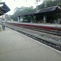 Photo taken at Whashermanpet Railway Station by Sri R. on 8/31/2013