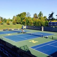 Photo taken at University of Michigan Varsity Tennis Center by Hayami N. on 10/13/2013