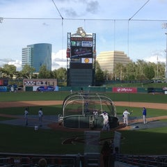 Photo taken at Raley Field by Susan B. on 4/5/2013