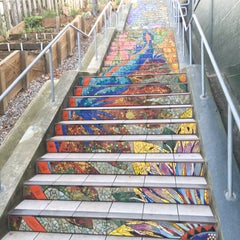 Photo taken at Hidden Garden Mosaic Steps by Laura S. on 11/9/2015
