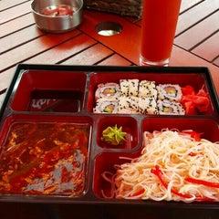Photo taken at GINGER | ķīniešu virtuve, suši bārs by Maris P. on 6/30/2015