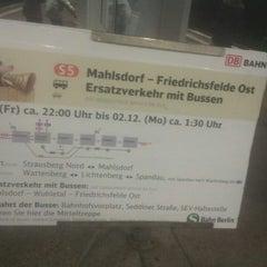 Photo taken at S Friedrichsfelde Ost by Enox on 11/30/2013