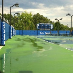 Photo taken at Ambler Tennis Stadium by Stephanie T. on 9/2/2012