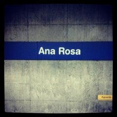 Photo taken at Estação Ana Rosa (Metrô) by Thaisa C. on 11/24/2012