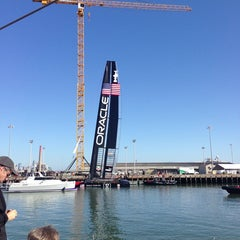 Photo taken at Oracle Team USA -Pier 80 by Ambrin A. on 9/9/2013