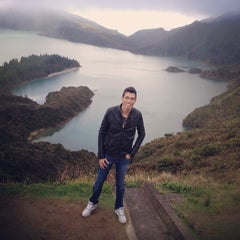 Photo taken at Miradouro da Lagoa do Fogo by Jefferson X. on 3/3/2014
