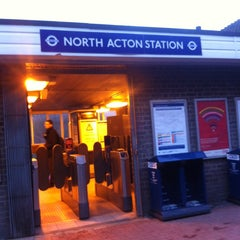 Photo taken at North Acton London Underground Station by Mick S. on 1/31/2013