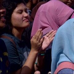 Photo taken at Patung Panahan Senayan by iyan H. on 2/9/2014