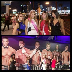 Photo taken at Chippendales Theatre at The Rio Vegas by Ammie G. on 3/15/2015