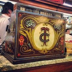 Photo taken at Gran Café Tortoni by Alan W. on 4/23/2013