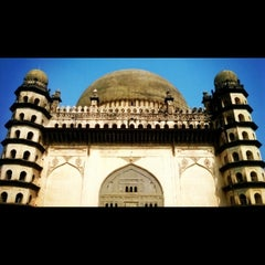 Photo taken at Gol Gumbaz by Rajath D. on 12/29/2013
