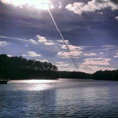 Photo taken at Lake Johnson by Tamara N. on 3/3/2013